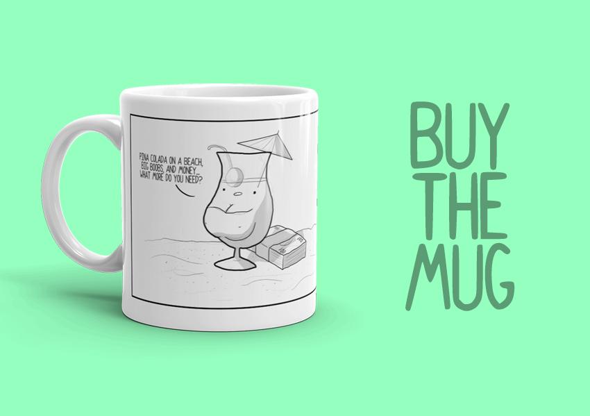 Buy the pina colada offshore tax haven mug