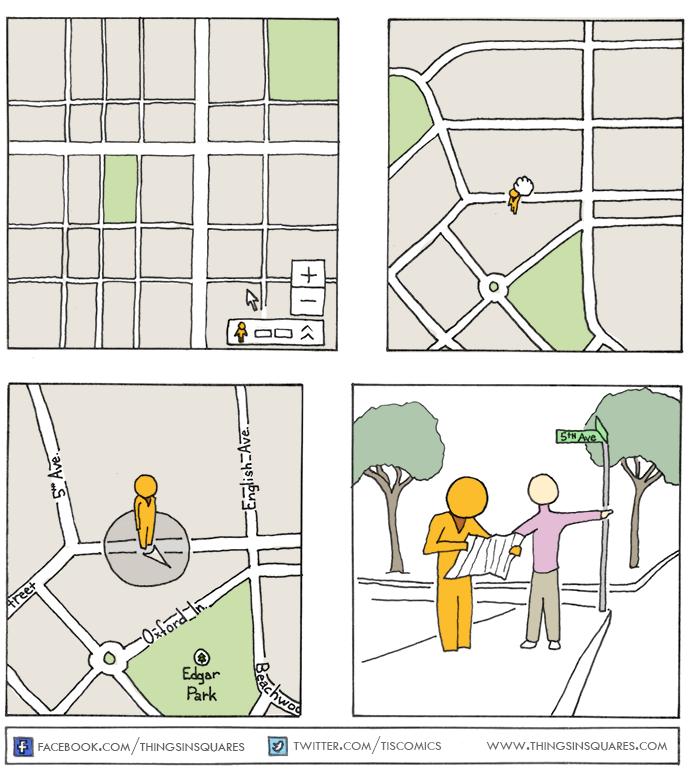 Comic of Google maps