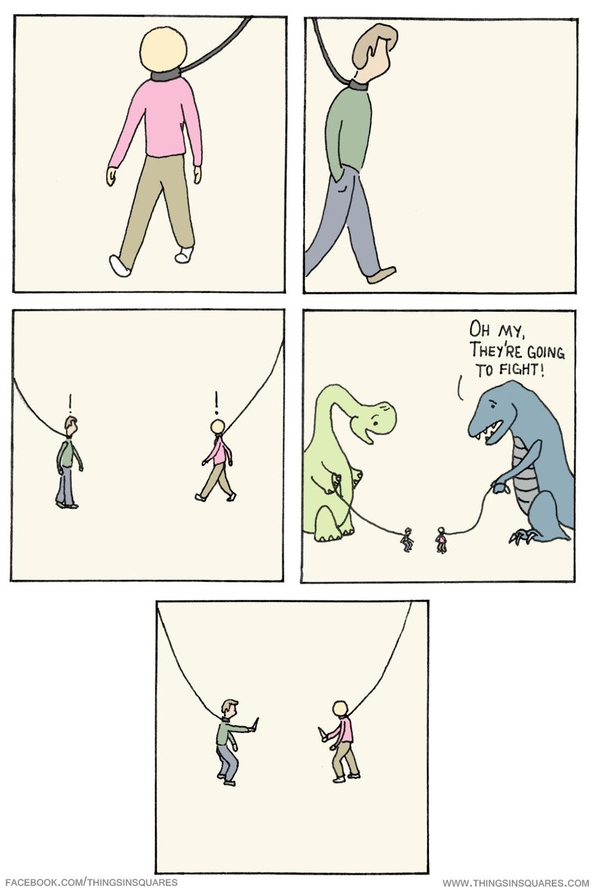 Humans Fighting Comic