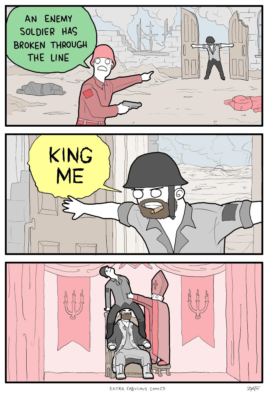 King me comic