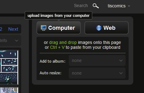 Upload images to Imgur